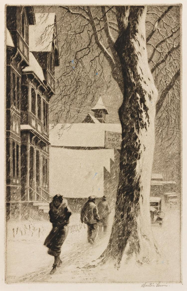 MARTIN LEWIS | Winter on White Street (M. 110)