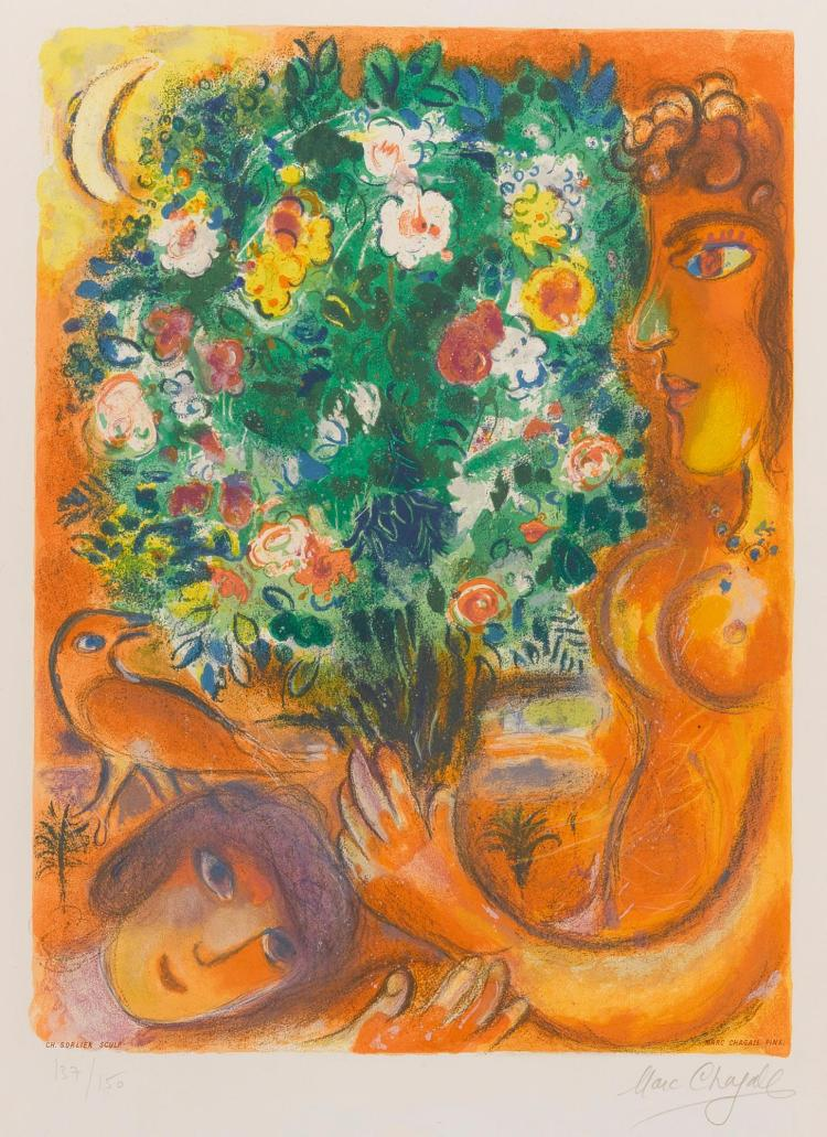 CHARLES SORLIER AFTER MARC CHAGALL | Femme au bouquet (M. CS 37)