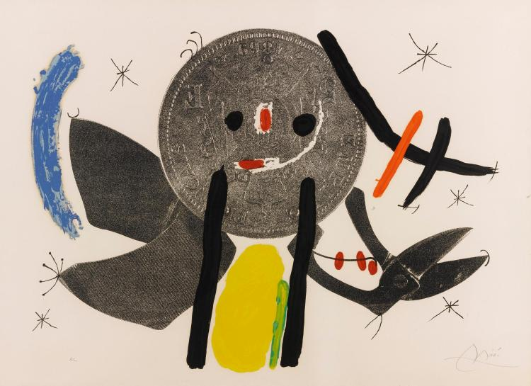 JOAN MIRÓ | The Crooked Phynancial Phang IV (M. 691)