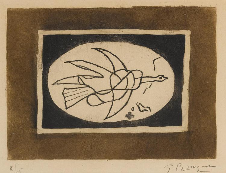 GEORGES BRAQUE | Oiseau marron I (Oiseau V) (V. 78)