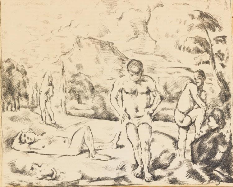 PAUL CÉZANNE | The Large Bathers (Venturi 1157)