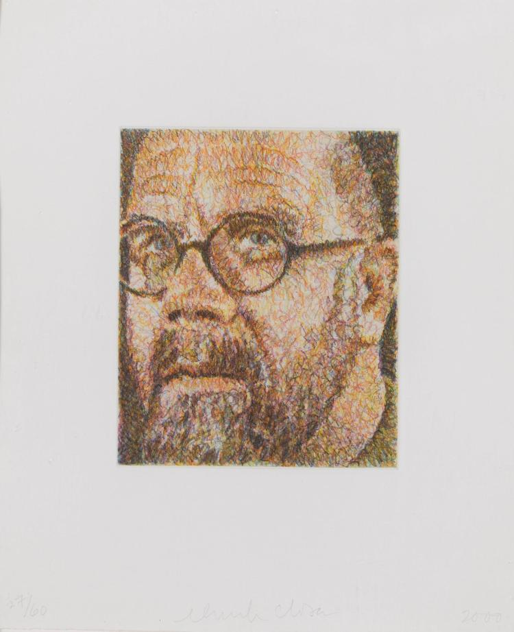 CHUCK CLOSE | Self Portrait/Scribble/Etching