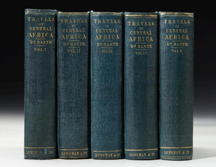 BARTH. TRAVELS AND DISCOVERIES IN NORTH AND CENTRAL AFRICA. 1857