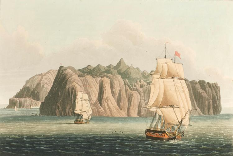 BELLASIS. VIEWS OF SAINT HELENA. 1815