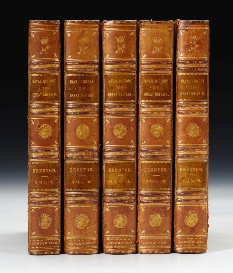 BRENTON. NAVAL HISTORY OF GREAT BRITAIN. 1823, (5 VOL.)