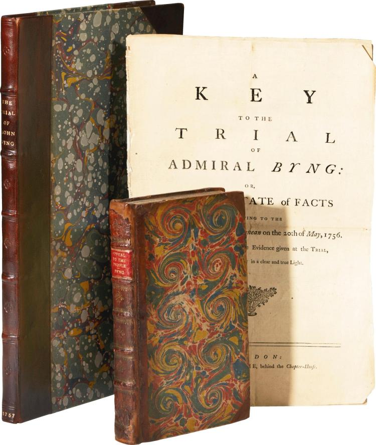 ADMIRAL BYNG. COLLECTION OF WORKS. 1756-57