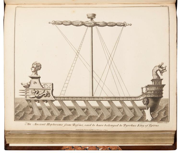 CHARNOCK. HISTORY OF MARINE ARCHITECTURE. 1800-02, (3 VOL.)