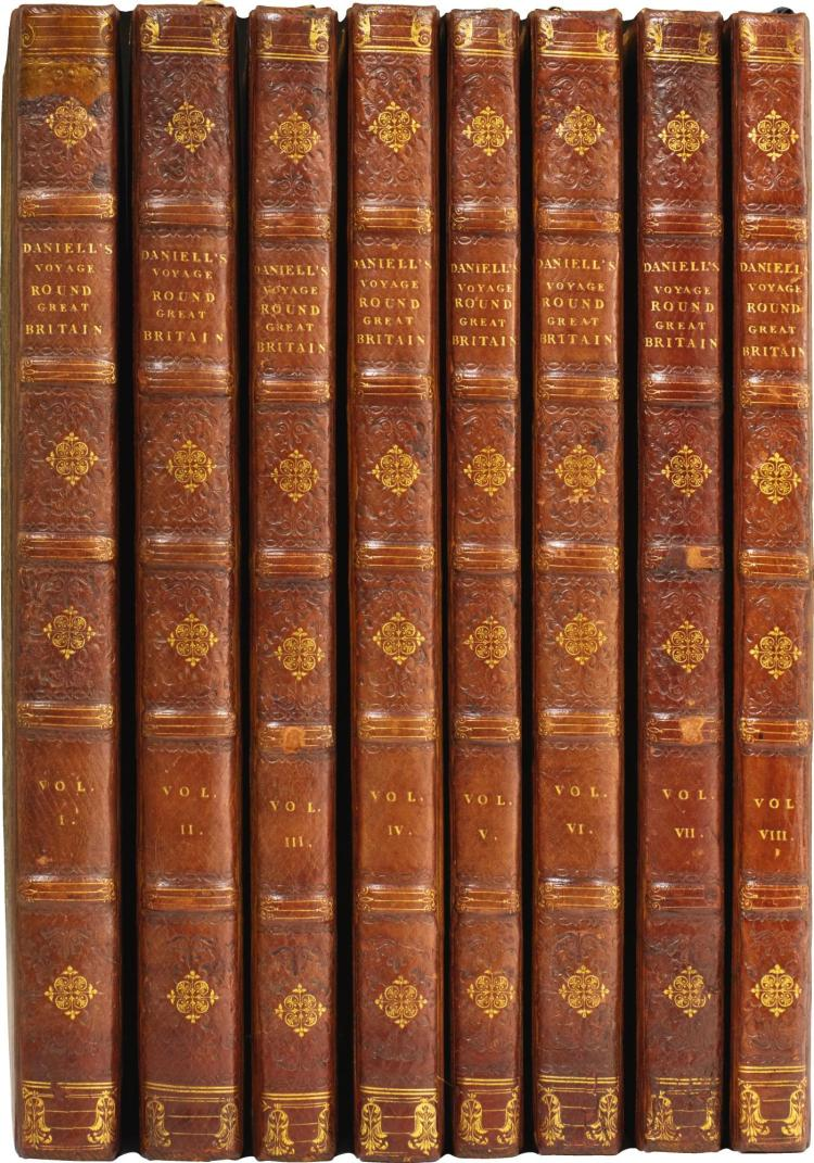 DANIELL. VOYAGE ROUND GREAT BRITAIN. 1814-1825, (8 VOL)