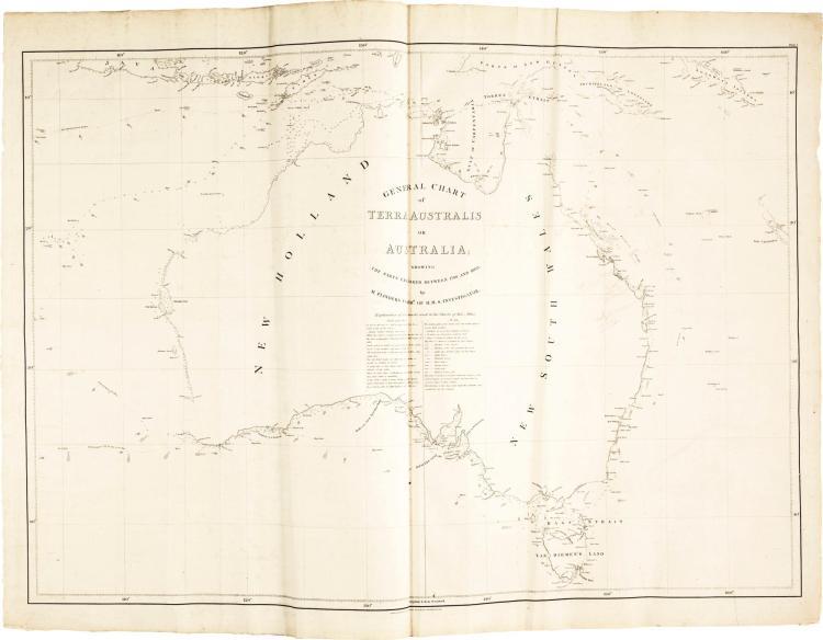 FLINDERS. VOYAGE TO TERRA AUSTRALIS, 1814, WITH ATLAS