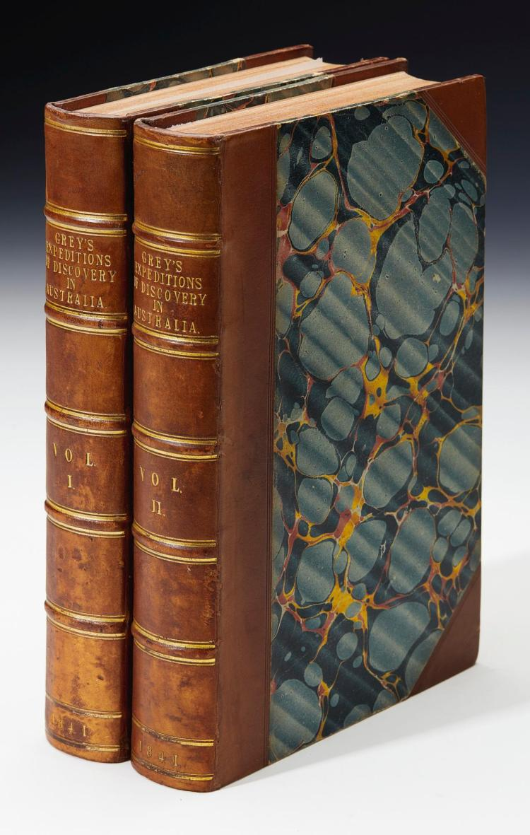GREY. JOURNALS OF TWO EXPEDITIONS OF DISCOVERY IN NORTH-WEST AND WESTERN AUSTRALIA. 1841