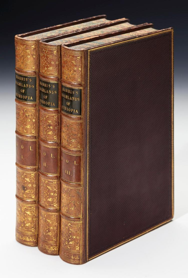 HARRIS. THE HIGHLANDS OF AETHIOPIA. 1844, (3 VOL.)