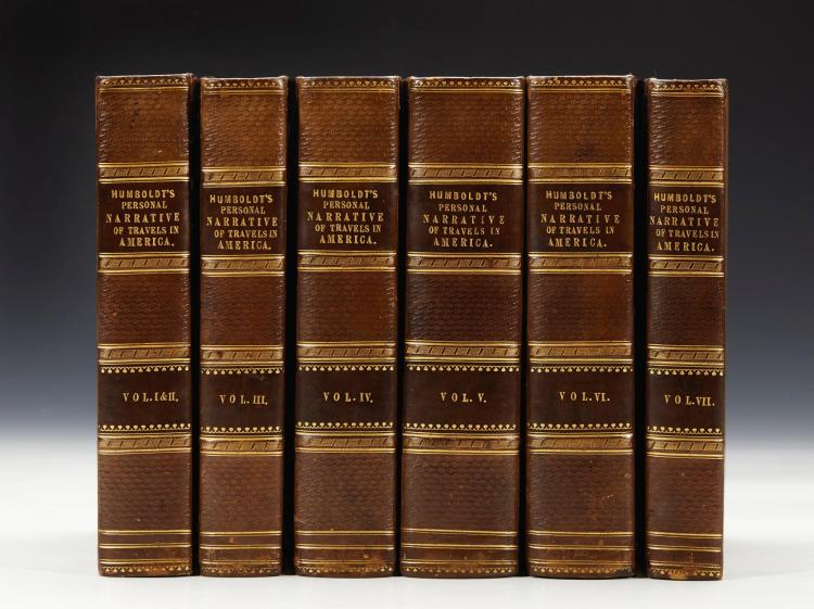 HUMBOLDT. PERSONAL NARRATIVE OF TRAVELS TO THE EQUINOCTIAL REGIONS OF THE NEW CONTINENT. 1818-29, (6 VOL.)