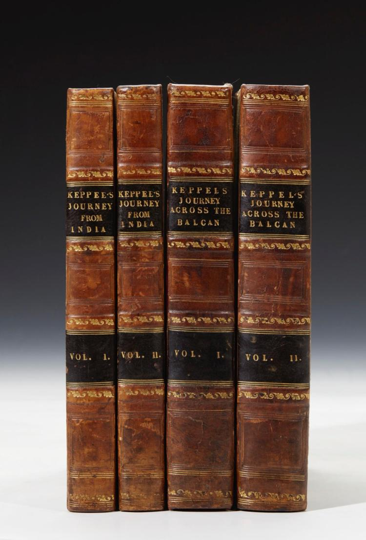 KEPPEL. PERSONAL NARRATIVE OF A JOURNEY FROM INDIA. 1827, (2 VOL.); NARRATIVE OF A JOURNEY.. BALCAN. 1831, (2 VOL.)