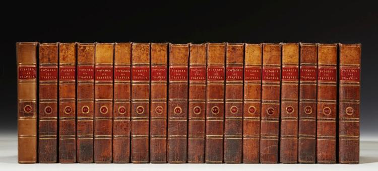 KERR. A GENERAL HISTORY AND COLLECTION OF VOYAGES AND TRAVELS. 1811-24, (18 VOL.)