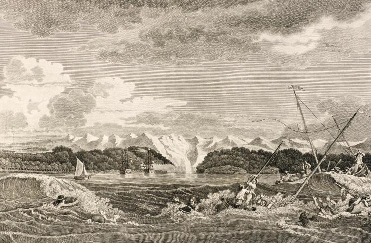 LA PÉROUSE. A VOYAGE ROUND THE WORLD. 1807 [AND] ATLAS [1799]