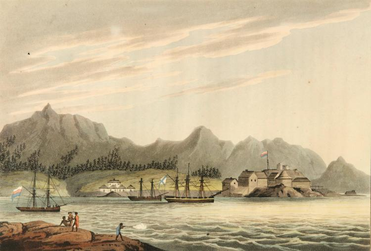 LISIANSKY. A VOYAGE ROUND THE WORLD. 1814