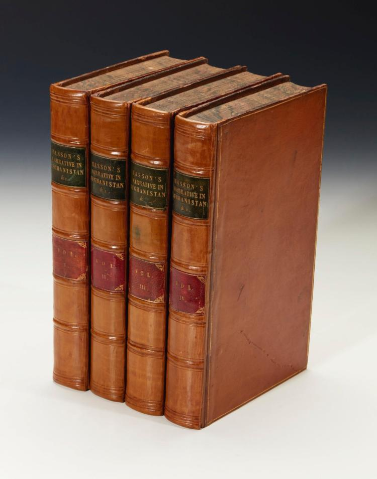 MASSON. NARRATIVE OF... JOURNEYS IN BALOCHISTAN, AFGHANISTAN, AND THE PANJAB. 1842, (3 VOL.) AND JOURNEY TO KALAT. 1843