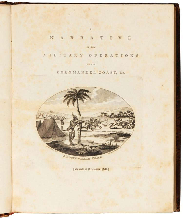 MUNRO. A NARRATIVE OF THE MILITARY OPERATIONS ON THE COROMANDEL COAST. 1789
