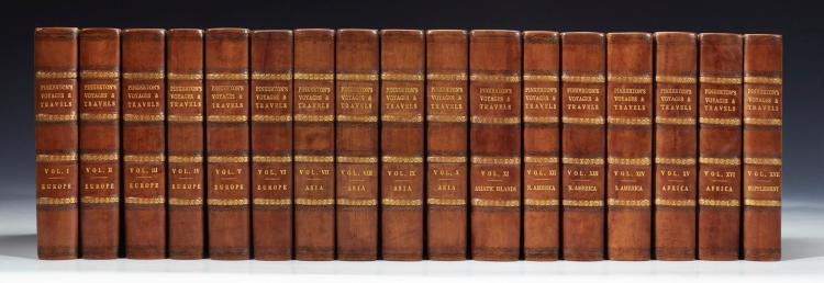 PINKERTON. A GENERAL COLLECTION OF.. VOYAGES AND TRAVELS IN ALL PARTS OF THE WORLD. 1808-1814