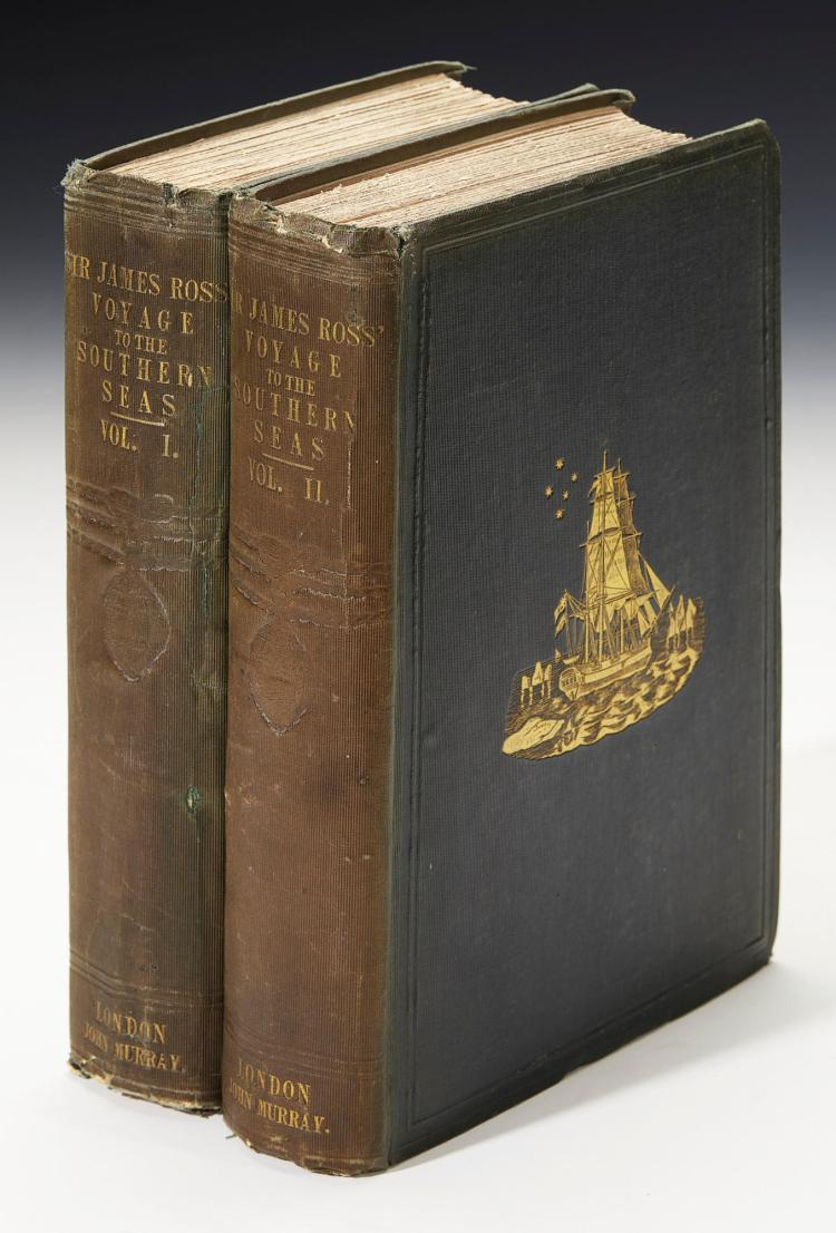ROSS. A VOYAGE OF DISCOVERY AND RESEARCH IN THE SOUTHERN AND ANTARCTIC REGIONS. 1847, (2 VOL.)