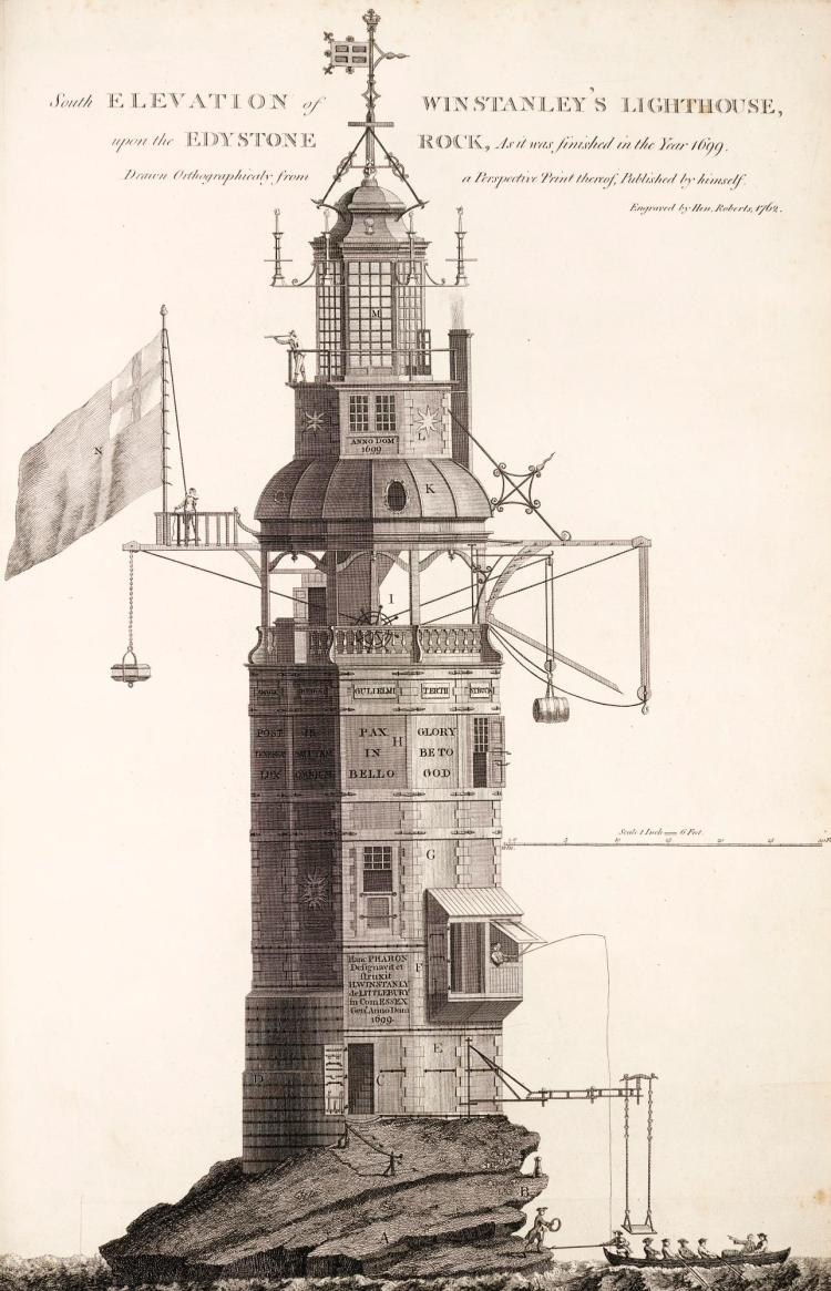 SMEATON, JOHN. A NARRATIVE OF THE BUILDING...OF THE EDYSTONE LIGHTHOUSE. 1793