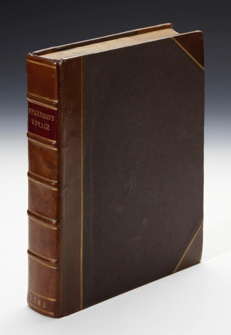 SPARRMAN. A VOYAGE TO THE CAPE OF GOOD HOPE, TOWARDS THE ANTARCTIC POLAR CIRCLE, AND ROUND THE WORLD. 1785