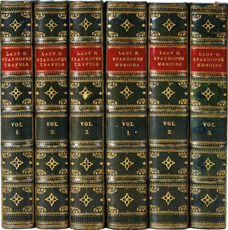 STANHOPE. MEMOIRS. 1845 (3 VOL.); TRAVELS. 1846 (3 VOL.)