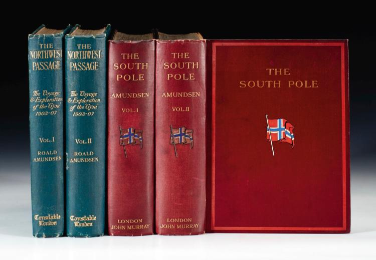 AMUNDSEN. THE NORTH-WEST PASSAGE. 1908 [AND] THE SOUTH POLE. 1912