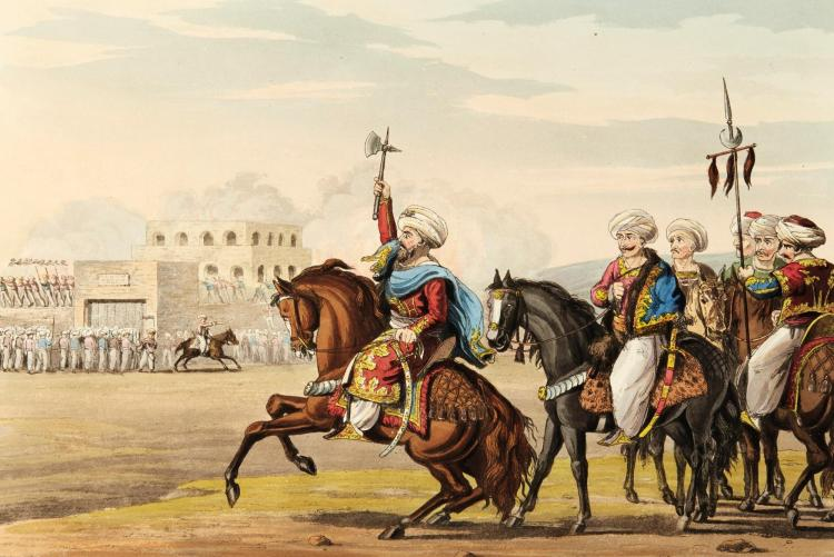 DAVENPORT. HISTORICAL PORTRAITURE OF LEADING EVENTS IN THE LIFE OF ALI PACHA, 1823