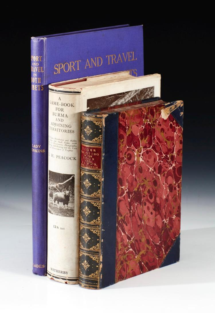 COLLECTION OF HUNTING AND TRAVEL BOOKS. (3VOL.)