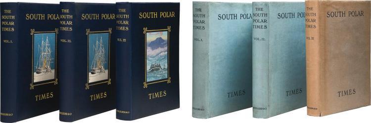 SHACKLETON. THE SOUTH POLAR TIMES. 1907-1914, 3 VOL.