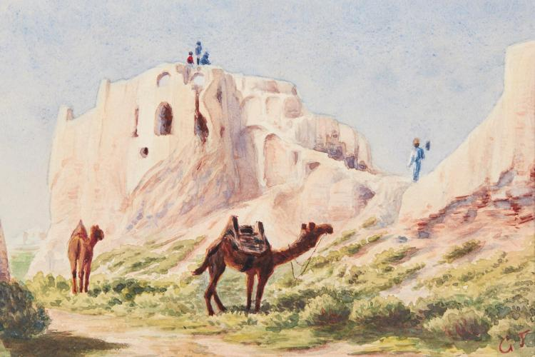TATE. THE FRONTIERS OF BALUCHISTAN. 1909, WITH ORIGINAL WATERCOLOUR