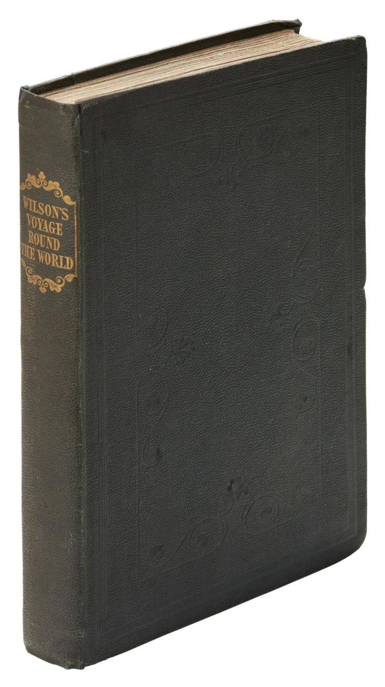 WILSON. NARRATIVE OF A VOYAGE ROUND THE WORLD...ON THE COASTS OF NEW HOLLAND. 1835. PRESENTATION COPY