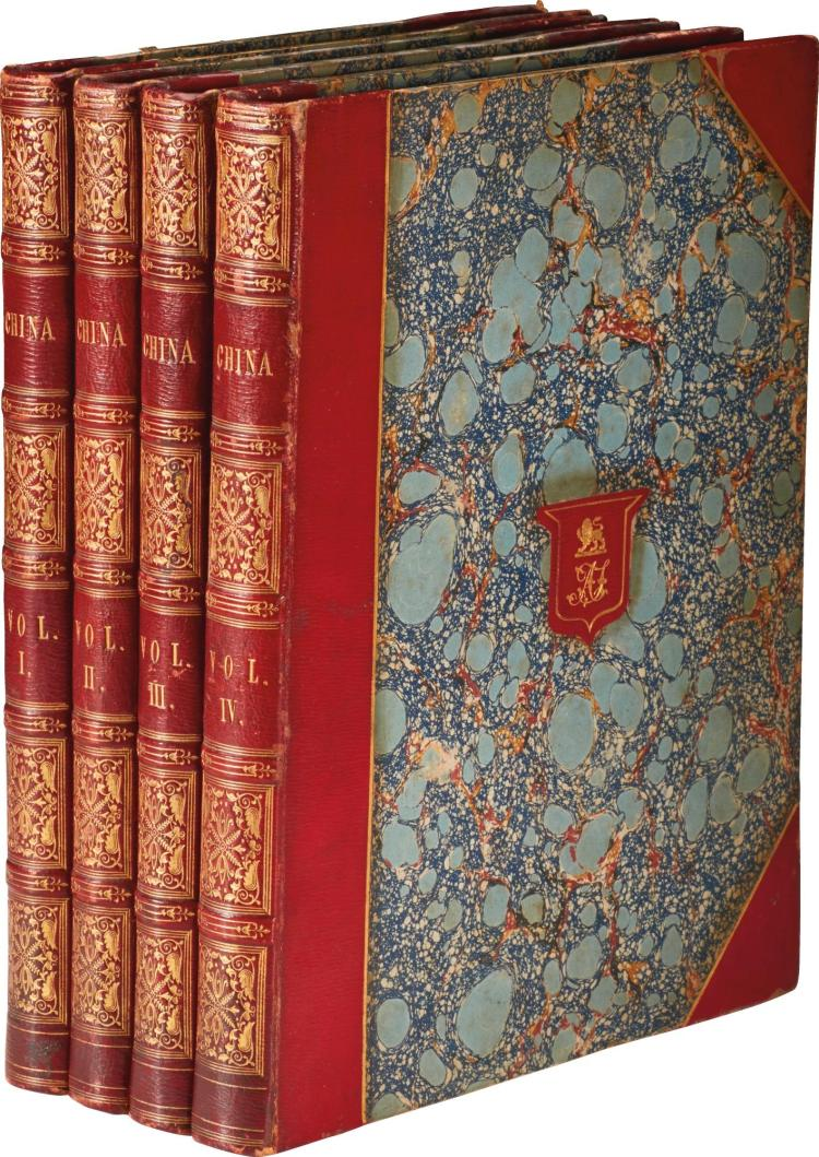 WRIGHT AND ALLOM. CHINA IN A SERIES OF VIEWS. 1843, (4 VOL.)