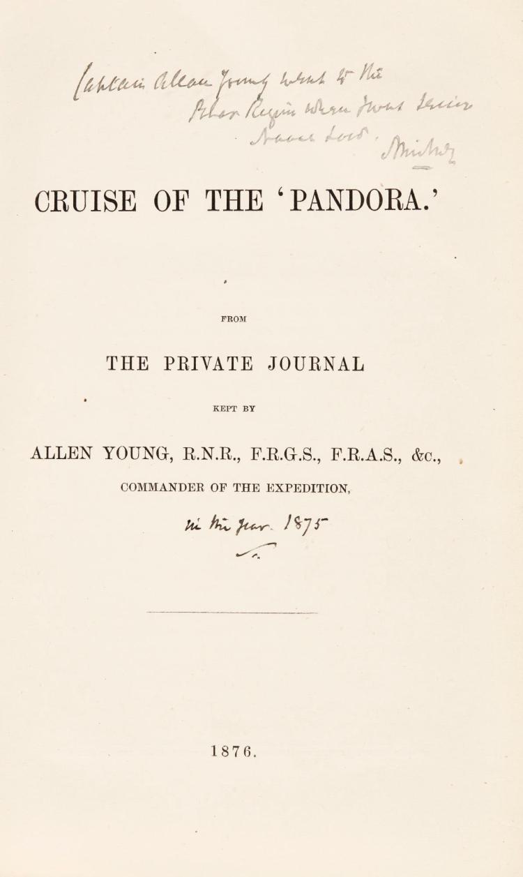 YOUNG. CRUISE OF THE PANDORA. 1876