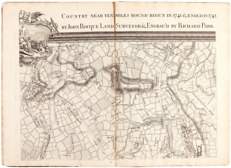 ROCQUE. AN EXACT SURVEY OF THE CITIES OF LONDON AND WESTMINSTER. 1746 OR 1747