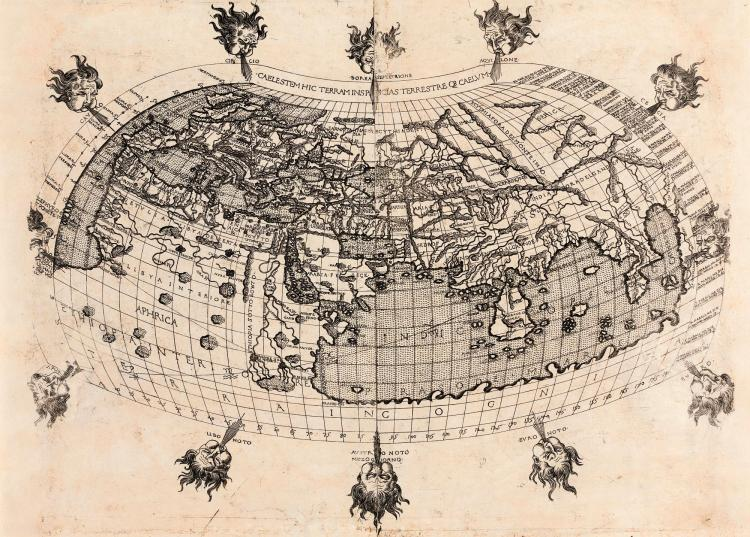 BERLINGHIERI. [UNTITLED WORLD MAP. 1482]