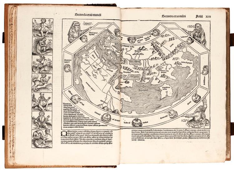 SCHEDEL, LIBER CHRONICARUM, NUREMBERG, JULY 1493, OLD HALF CALF