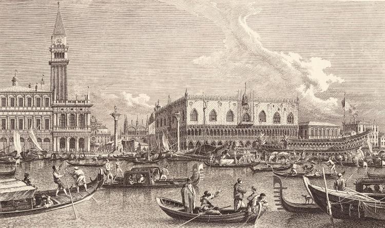CANALETTO, URBIS VENETIARUM PROSPECTUS CELEBRIORES VENICE, 1735, PART 1, JOSEPH SMITH'S OWN COPY