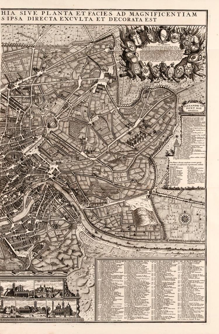 BLAEU [AND] MORTIER. COMPOSITE ATLAS OF REGIONAL MAPS OF ITALY. [C.1705]