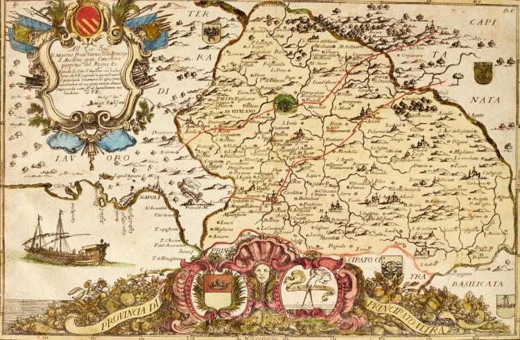 BULIFON, ACCURATISSIMA DELINEAZIONE DEL REGNO DI NAPOLI, NAPLES, 1794, 4TO, HAND-COLOURED MAPS