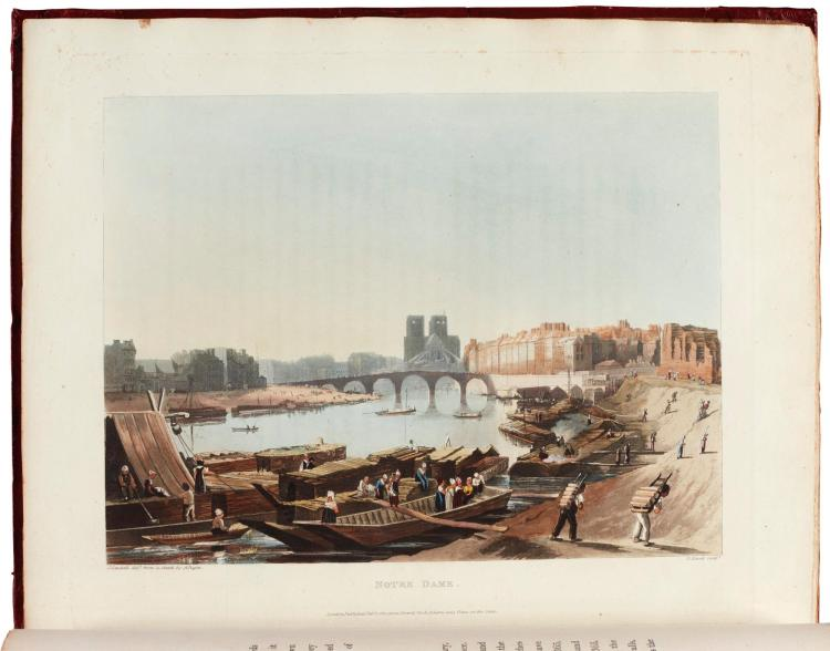 SAUVAN. PICTURESQUE TOUR OF THE SEINE, 1821, COLOURED PLATES