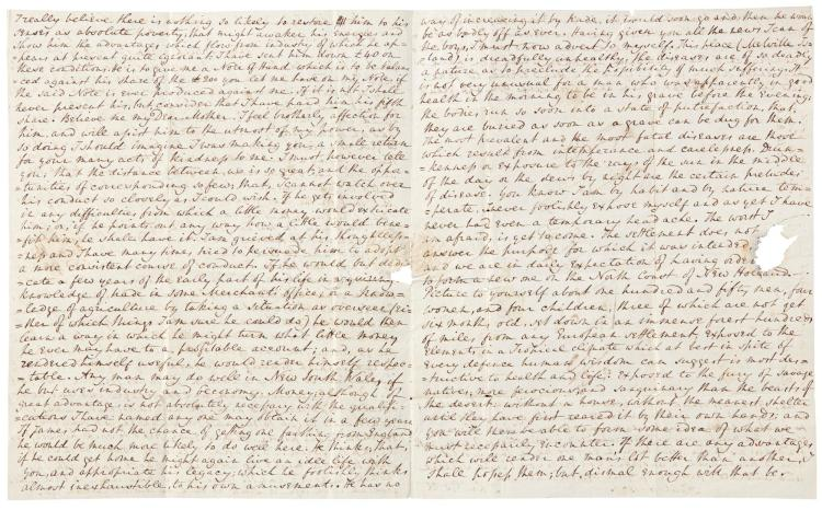 DR JOHN GOLD, AUTOGRAPH LETTER SIGNED, WRITTEN FROM MELVILLE ISLAND, 10 APRIL 1827