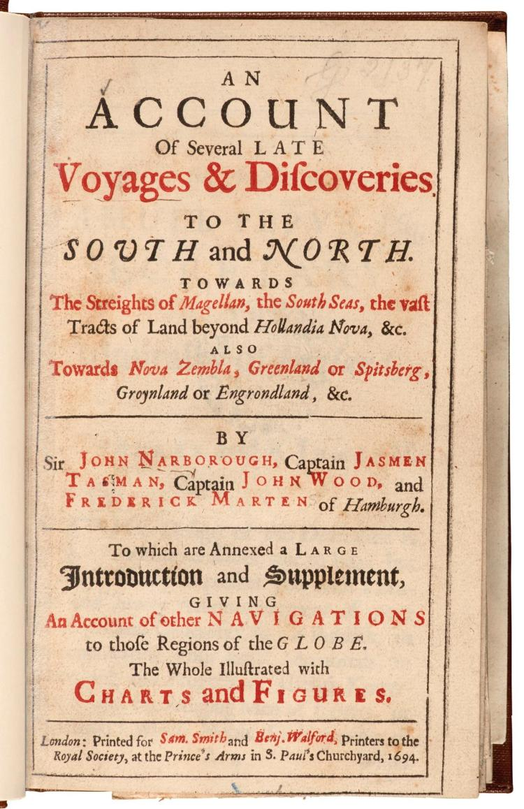 NARBOROUGH. AN ACCOUNT OF SEVERAL LATE VOYAGES & DISCOVERIES. 1694