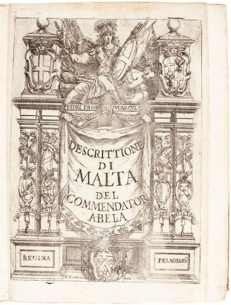 ABELA. DELLA DESCRITTIONE DI MALTA, 1647