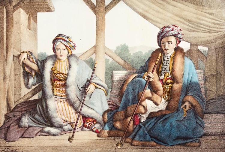 DUPRÉ. [VOYAGE À ATHÈNES ET À CONSTANTINOPLE, PARIS, 1825], 30 LOOSE PLATES FROM THIS WORK