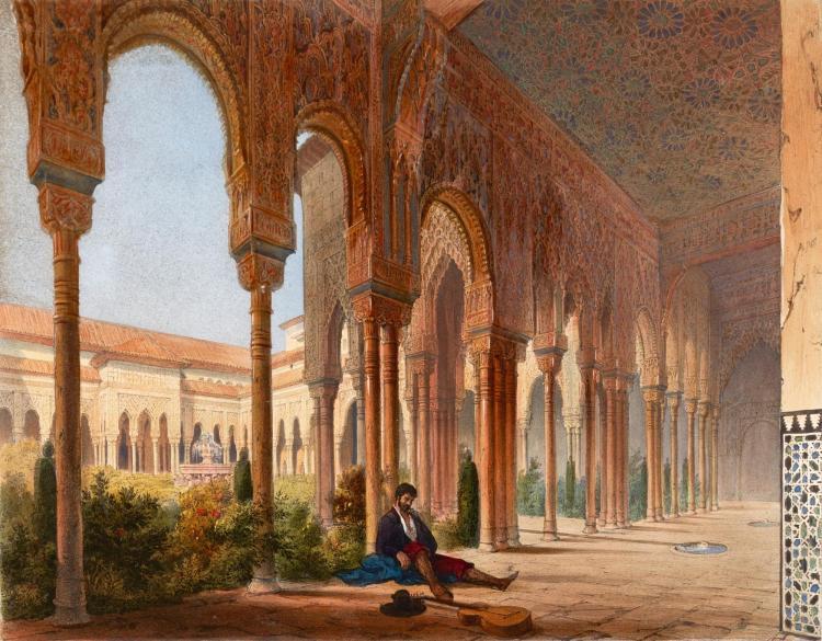 GIRAULT DE PRANGEY. CHOIX D'ORNEMENTS MORESQUES DE L'ALHAMBRA, PARIS, [1842], COLOURED PLATES