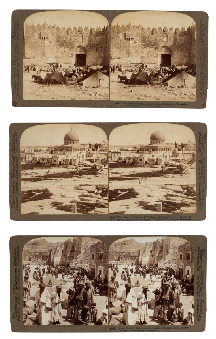 PALESTINE AND THE MIDDLE EAST. A COLLECTION OF STEREOVIEW PHOTOGRAPHS & VIEWER
