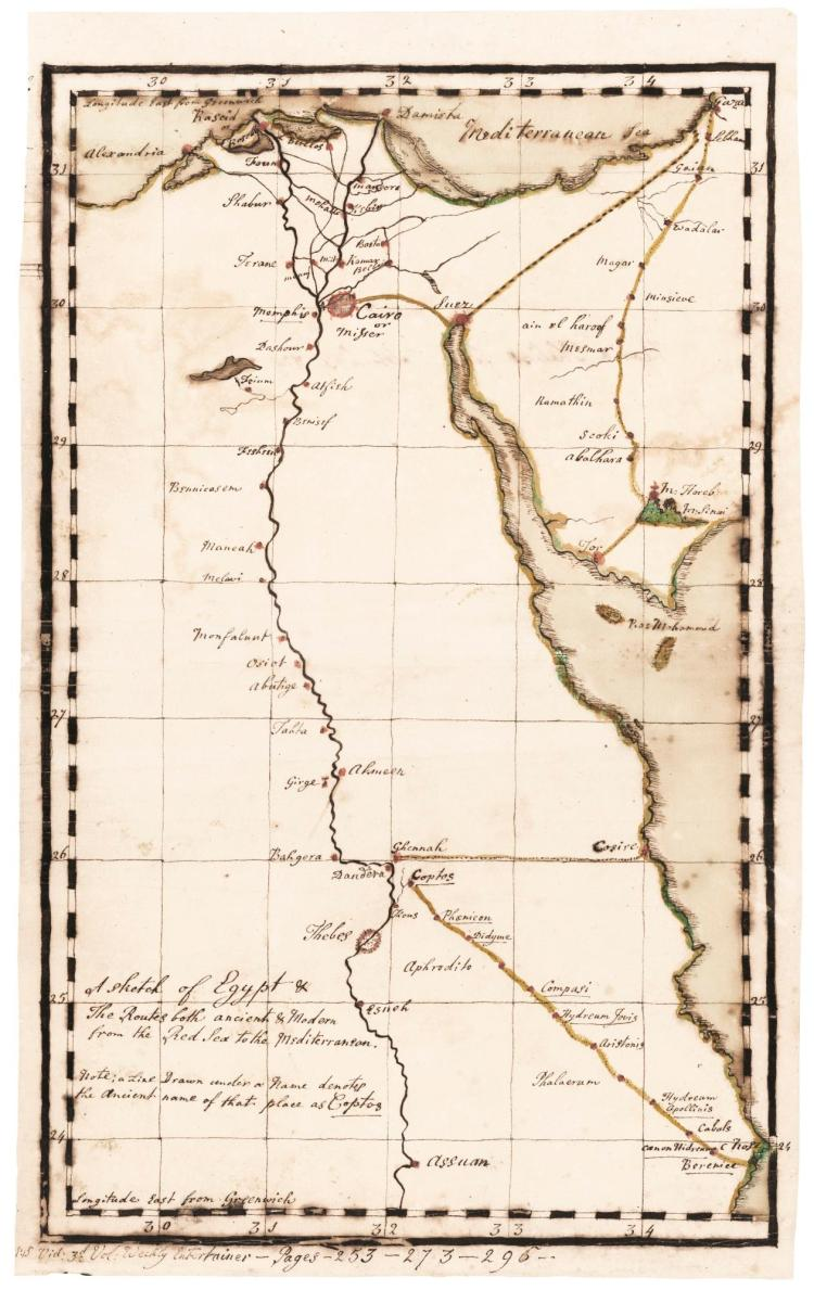 PHELIPS. 6 MANUSCRIPT MAPS OF THE MIDDLE EAST. [C.1784]
