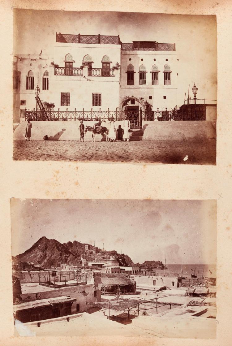 OMAN. ALBUM OF PHOTOGRAPHS. [1871-85]